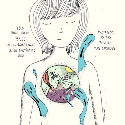 Nuestro rico mundo interior, donde batalla nuestra esencia y los agregados. Ilustración de Vero Gatti.