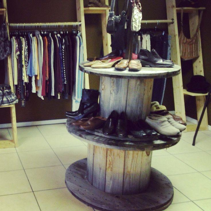 Urban Unique Resale and Boutique shoe display