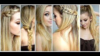 coiffure facile rapide et jolie - YouTube