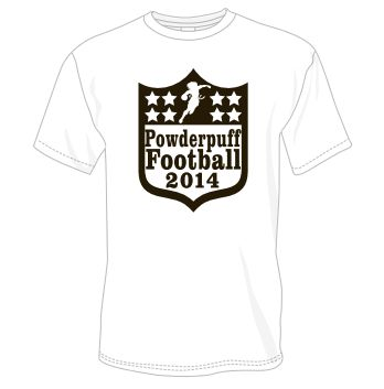 The 2014 Powderpuff Football Shirts #greeklife #powderpuff #champs @moraviancollege @ClubColorsPromo