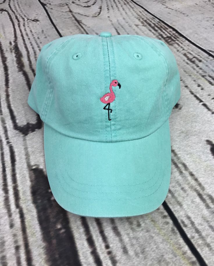 Flamingo baseball hat - Pigment dyed hat - Beach hat - Nautical hat - Spring break hat - Monogrammed hat - Flamingo hat - Flamingo - Beach hair don't care - Aloha hat - Hawaii