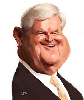 Newt Gingrich by Olle Magnusson.Favorite Caricatures, F Caricatures, Caricatures People, Olle Magnusson, Newt Gingrich, Celeb Caricatures