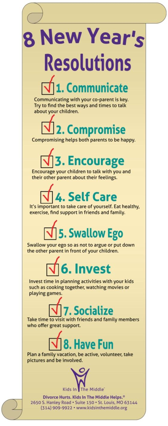 New Year's Resolutions for #Co-Parents