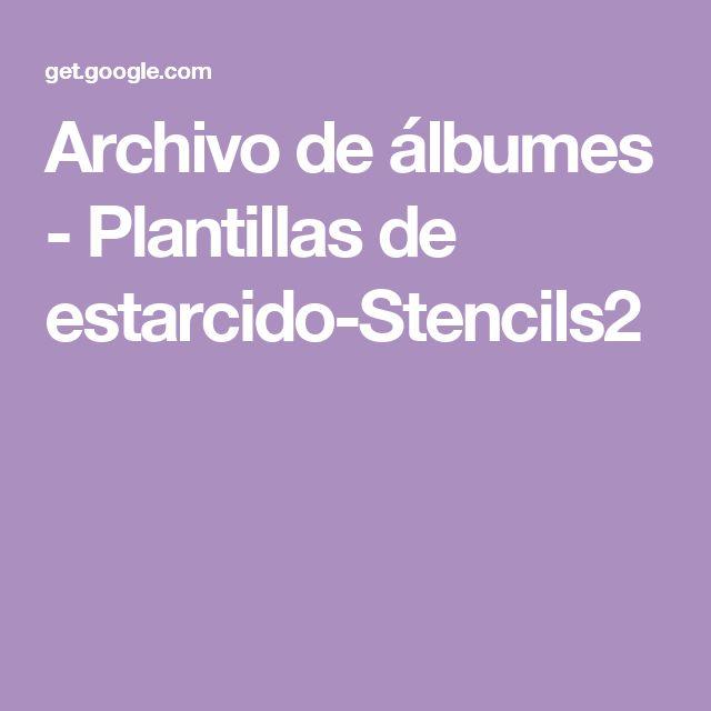 Archivo de álbumes - Plantillas de estarcido-Stencils2