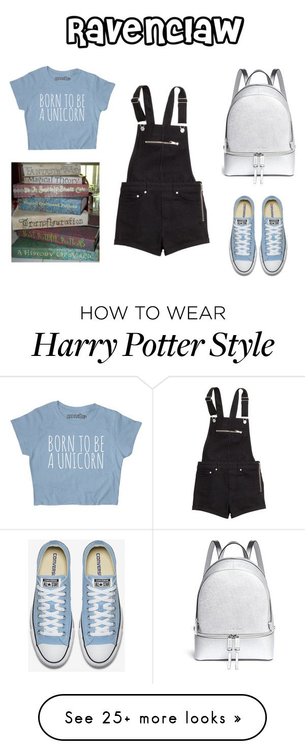"""Ravenclaw - Back to School"" by disneyxrose on Polyvore featuring H&M and Michael Kors"