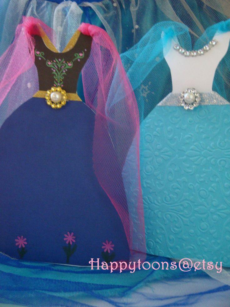 Frozen Invitation, Frozen Birthday Invitation, Frozen Invitation, Birthday Invitation - Set of 8 invitations by HappyToons on Etsy