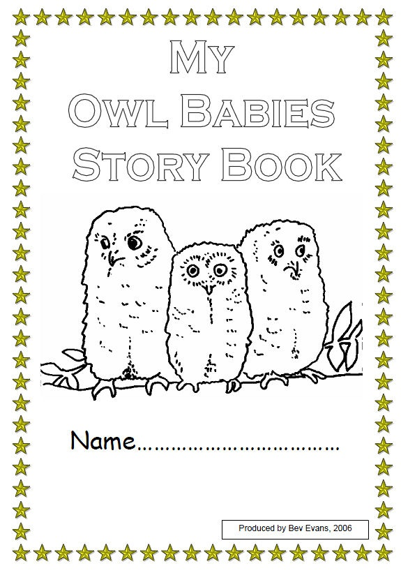 coloring pages of owl babies - photo#29