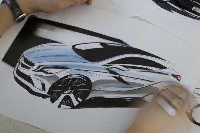 Marker Sketch   |   Mercedes