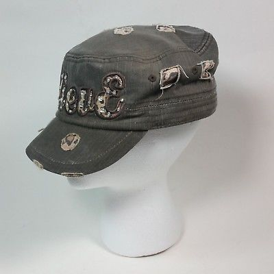50249f3c9e0dc Military-Style-Fashion-Cap-Distressed-MF-Western-Believe-Animal-Print-Cadet- Hat