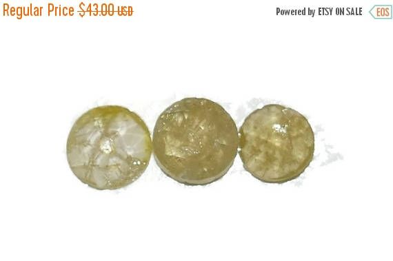 Diamonds on SALE Loose Rustic Diamonds, Shiny Yellow LOOSE Diamonds, Set of 3 Diamonds, Rose cut stunning diamonds for custom made rings, Fr by BridalRings on Etsy https://www.etsy.com/listing/471939034/diamonds-on-sale-loose-rustic-diamonds