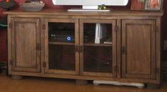 Ana White   Build a Rustic Media Console   Free and Easy DIY Project and Furniture Plans