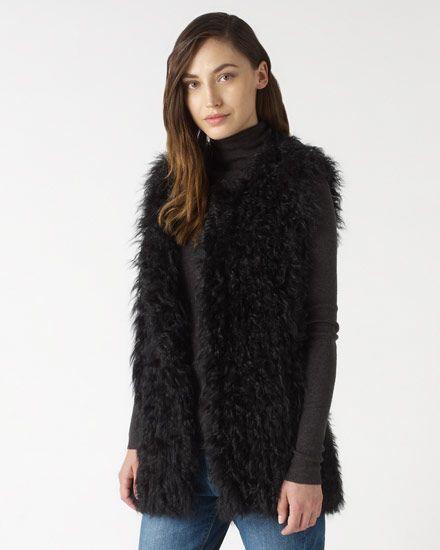 Knitted Sheepskin Gilet #jigsawaw14