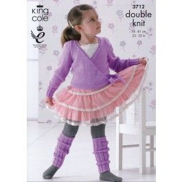 Ballet Cardigan and Leg Warmers in King Cole DK (3712) £2.99