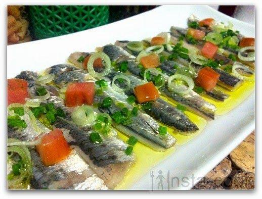 Sardines marinadas.