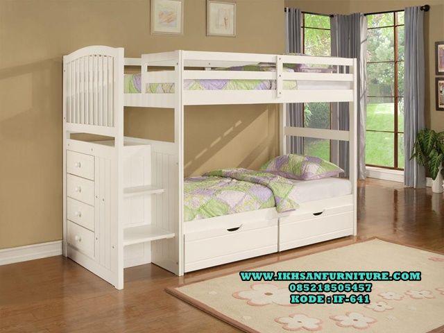 Tempat Tidur Anak Tingkat Minimalis Murah Cat Duco IF-641