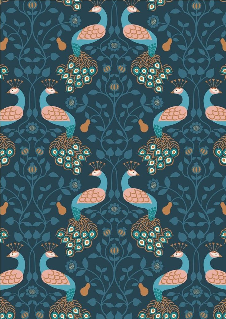 A245.3 - Peacock & Pear On Dark Blue Inspired by the opulence of a grand country house not too far away from us, this sumptuous collection from Lewis and Irene has metallic elements in copper and gold. 100% cotton and of the usual outstanding quality we have come to expect from Lewis and Irene, Chieveley brings you flowers, peacocks and feathers on beautiful backgrounds. Chieveley is also the neighbouring village to our own and so this fabric is partcularly relevant to Juberry Fabrics...