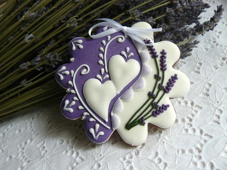 Perníčky - květiny s levandulí