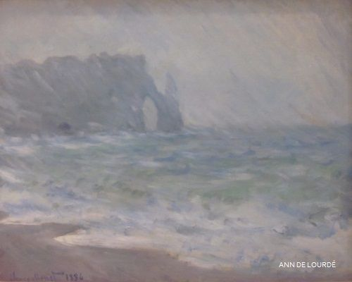 Rainy Weather, Etretat by Claude Monet 1886, Autumn 2012, The National Gallery, Oslo.