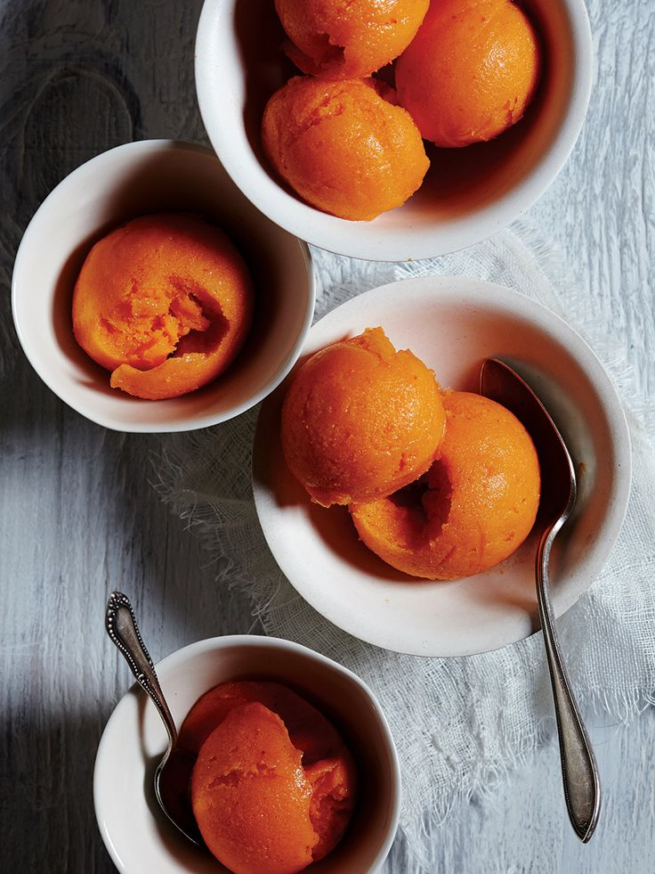 Creamy Persimmon Sorbet Recipe — Dishmaps