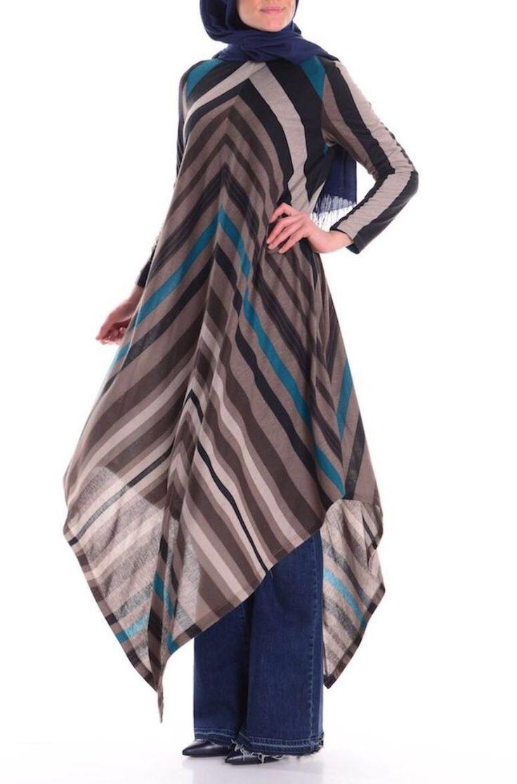 Seval Style Çizgili Tunik :: 65.90 TL (KDV dahil)