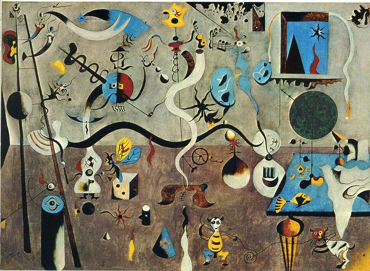 Jean Miro. A master of lines and color!  The work is lively and energetic.  I would pair this with Vouvray demi-sec or Cru Beaujolais.