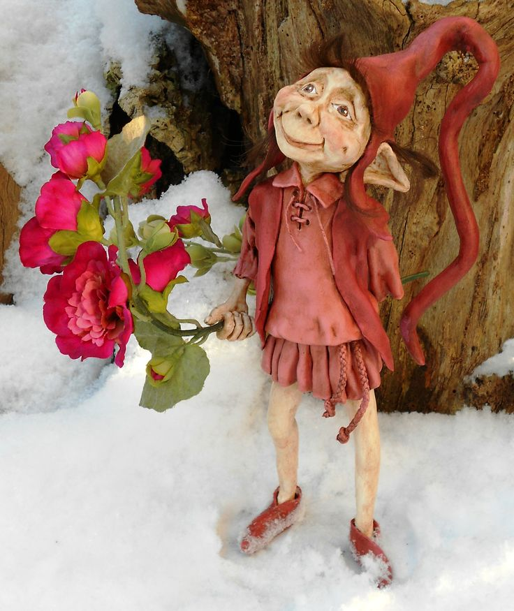 Erdbeer Made of Formo clay and Apoxie Sculpt.