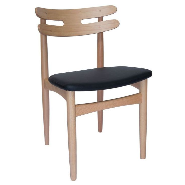 Replica HW Klein Dining Chair in Black PU Leather | Buy Dining Chairs