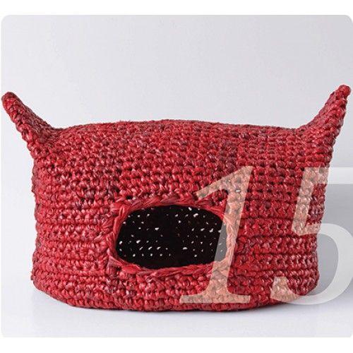 einen katzenkorb selber machen eine h kelanleitung zeigt wie das geht recycling baumwolle oder. Black Bedroom Furniture Sets. Home Design Ideas
