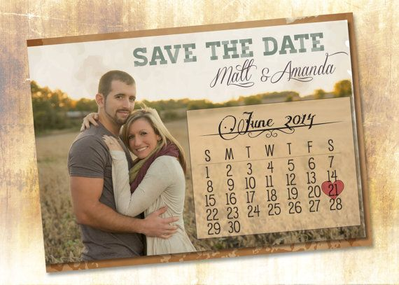 Rustic Save the Date by TheItDesign on Etsy, $25.00