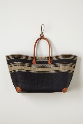 Anthropologie Seaside Striped Tote