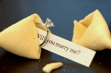 """Another creative proposal! Such as the one in """"Bride Wars"""""""