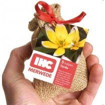 Jute mini zakjes met bloembollen