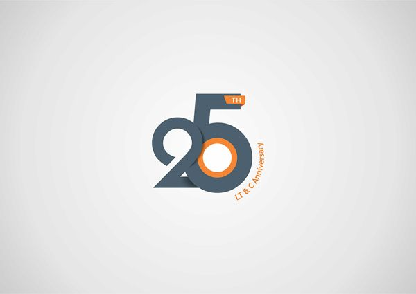 25th Anniversary Logo Design by Steeze Rocha Abiola, via Behance