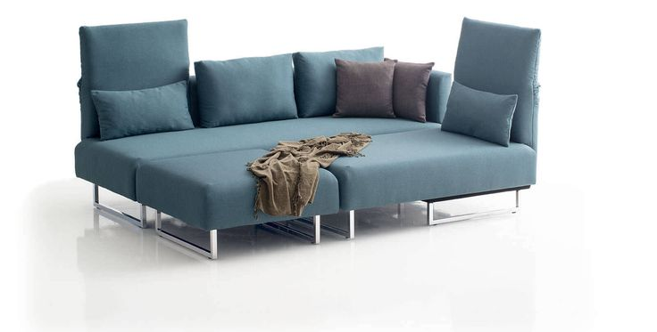 Corner sofa / bed / contemporary / textile - CONFETTO by Franz Fertig - die Collection