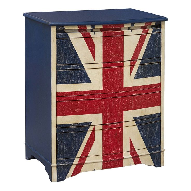Pulaski Union Jack 4-Drawer Dresser, Multicolor