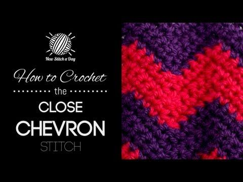 For written instructions and photos please visit: http://newstitchaday.com/how-to-crochet-the-close-chevron-stitch/  This video crochet tutorial will help you learn how to crochet the close chevron stitch. This stitch creates a fun two colored chevron pattern. The close chevron stitch would be great for afghans, bags and hats!  Skill: Easy  Join...