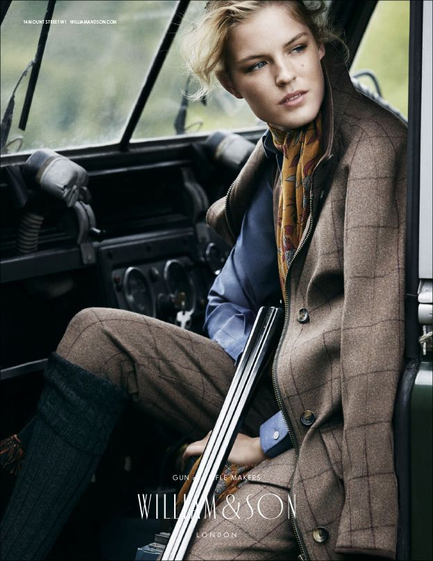 AW14 Ladies Rosedale jacket and breeks with William & Son 12 bore shotgun