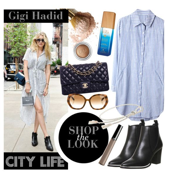 Gigi Hadid Style 2015 by clovers-mind on Polyvore featuring Office, Chanel, Kate Spade, J.Crew, Christian Dior, Giorgio Armani, Alterna, CelebrityStyle, 2015 and shopthelook