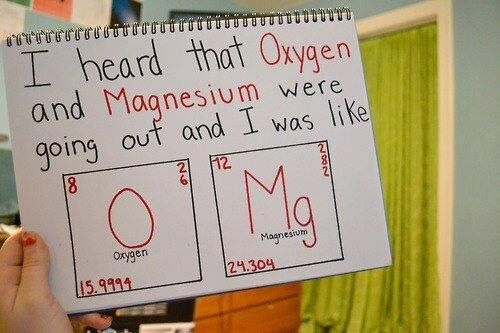 "Previous Pinner: ""The chemistry nerd in me cringed at this. ITD BE MgO! Magnesium Oxide! """