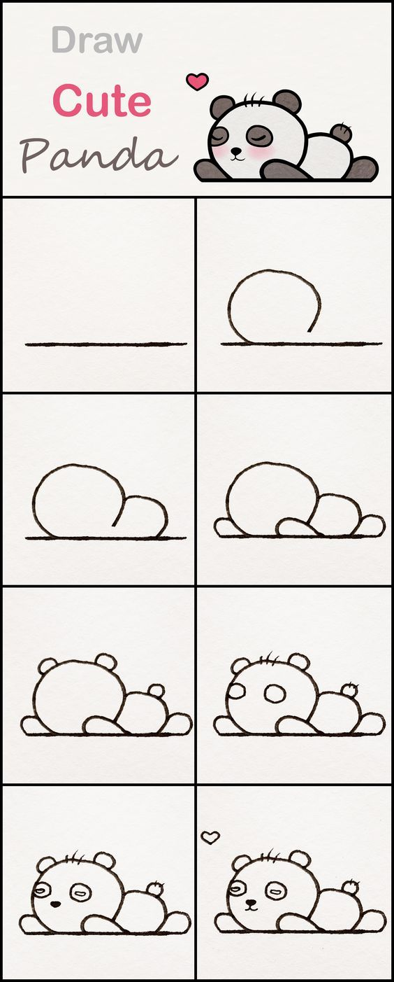 Learn how to draw a cute baby Panda step by step …