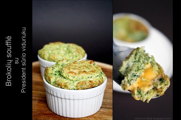 IRRI style: Brokolių soufflé su President sūriu