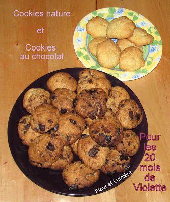 Fleur et Lumière: Cookies pour fêter les 20 mois de Violette