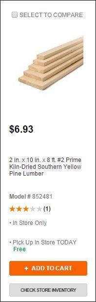 Ering Tool Box Softwood Lumber Dimensions