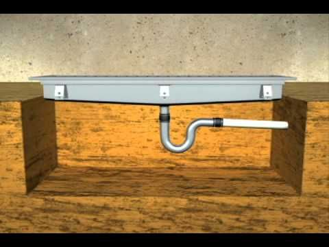 trench drain for concrete sink