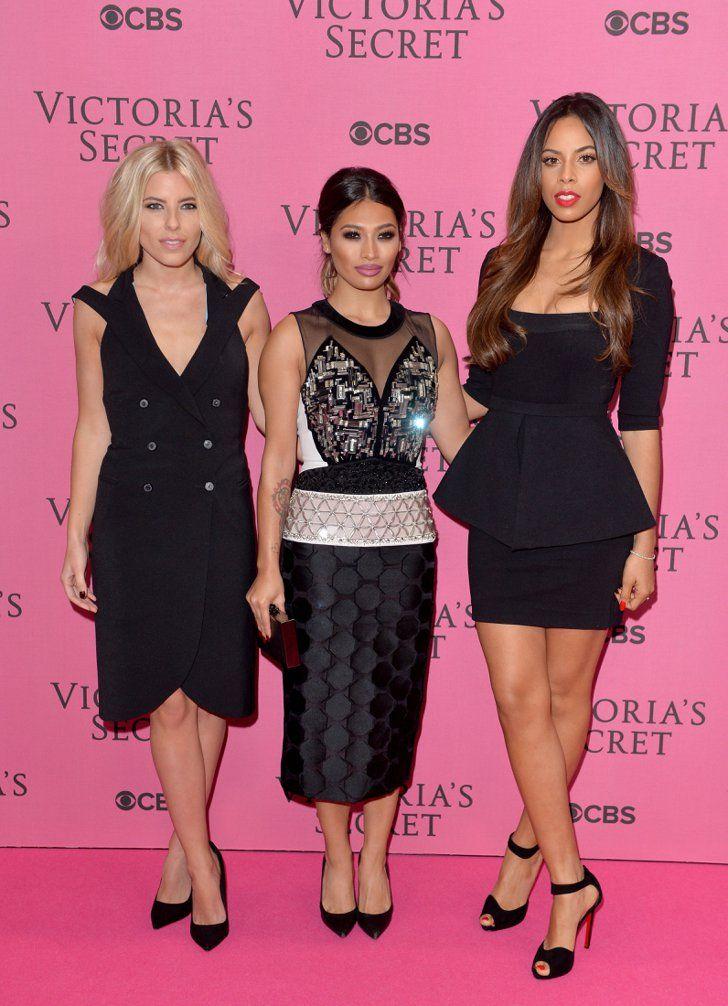 Pin for Later: Les Looks Du Tapis Rouge Pourraient Rivaliser Avec Le Défilé Victoria's Secret Mollie King, Vanessa White et Rochelle Humes