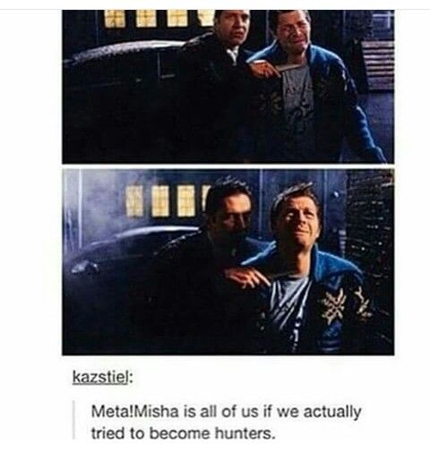 I love all Mishas but Meta Misha is great! Supernatural The French Mistake Castiel Misha Collins