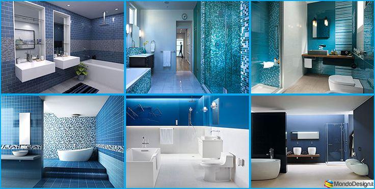 Bagno Blu e Bianco dal Design Moderno: ecco 20 Idee Originali | MondoDesign.it