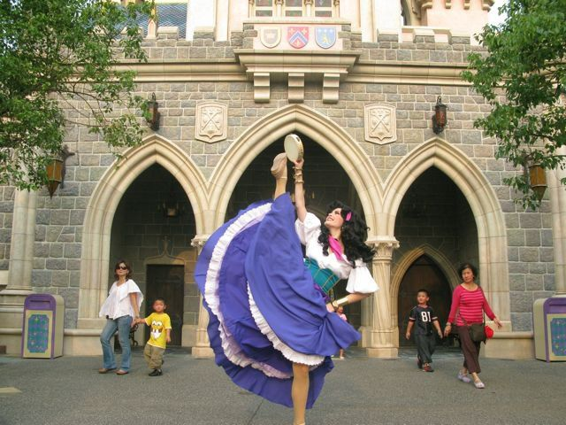 "thats-so-slightlyraven: "" These are now my two favourite photos. I barely see anything about Esmeralda as a character. I'm happy to see that she appears at Disneyland but she's not a regular. I mean..."