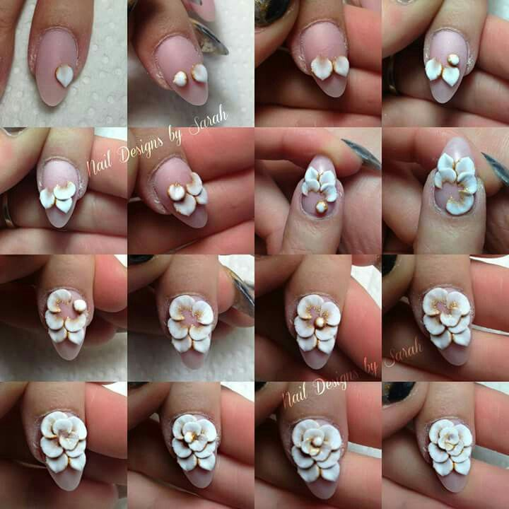 Nail art - 3D flower