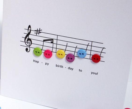 Tarjeta para un músico: